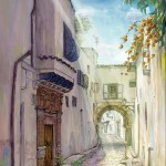 Medina background painting 03